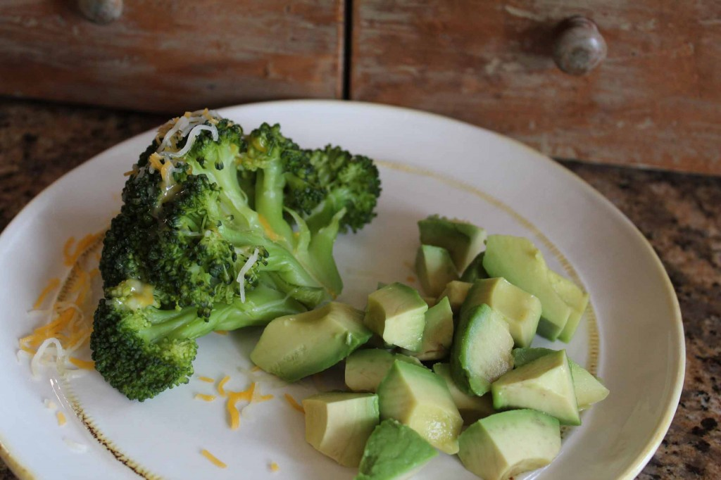 Healthy Avocado-Broccoli-Cheese snack