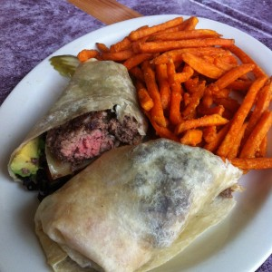 Tortilla Stuffed Burger at Wayside Cafe