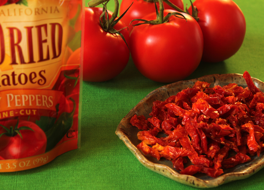 sun dried tomatoes with zesty red peppers