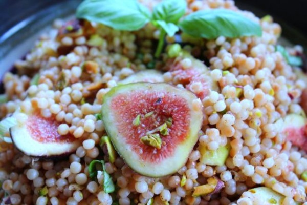 California Fig and Pistachio Couscous with Fresh Basil ...